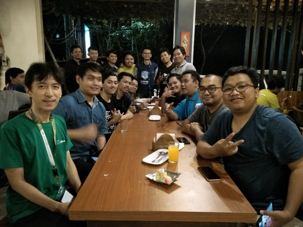 openSUSE Asia Summit 2019 Speaker Dinner at Mak Jo